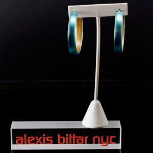 Blue Hoop Earring by Alexis Bittar